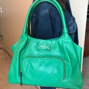 Kate Spade Emerald Green Leather Handbag